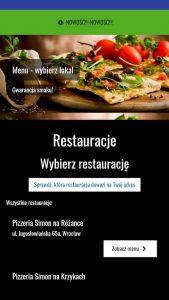 Aplikacja Pizzeria Simon