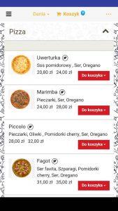 Aplikacja Pizzeria Sonata