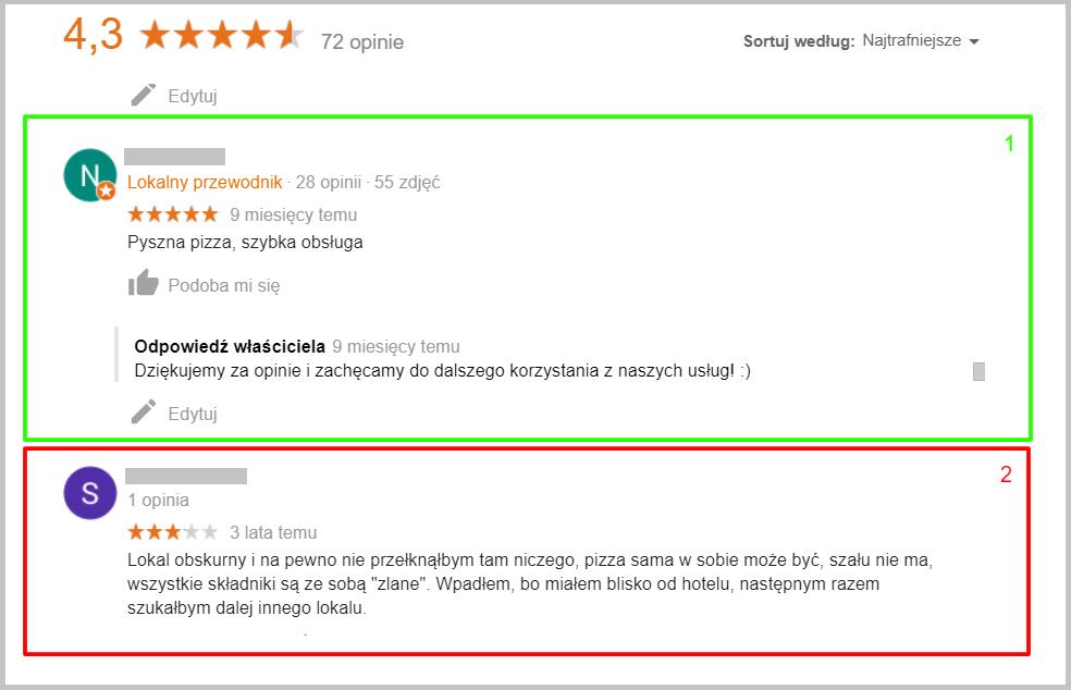 Opinia pozytywna o restauracji