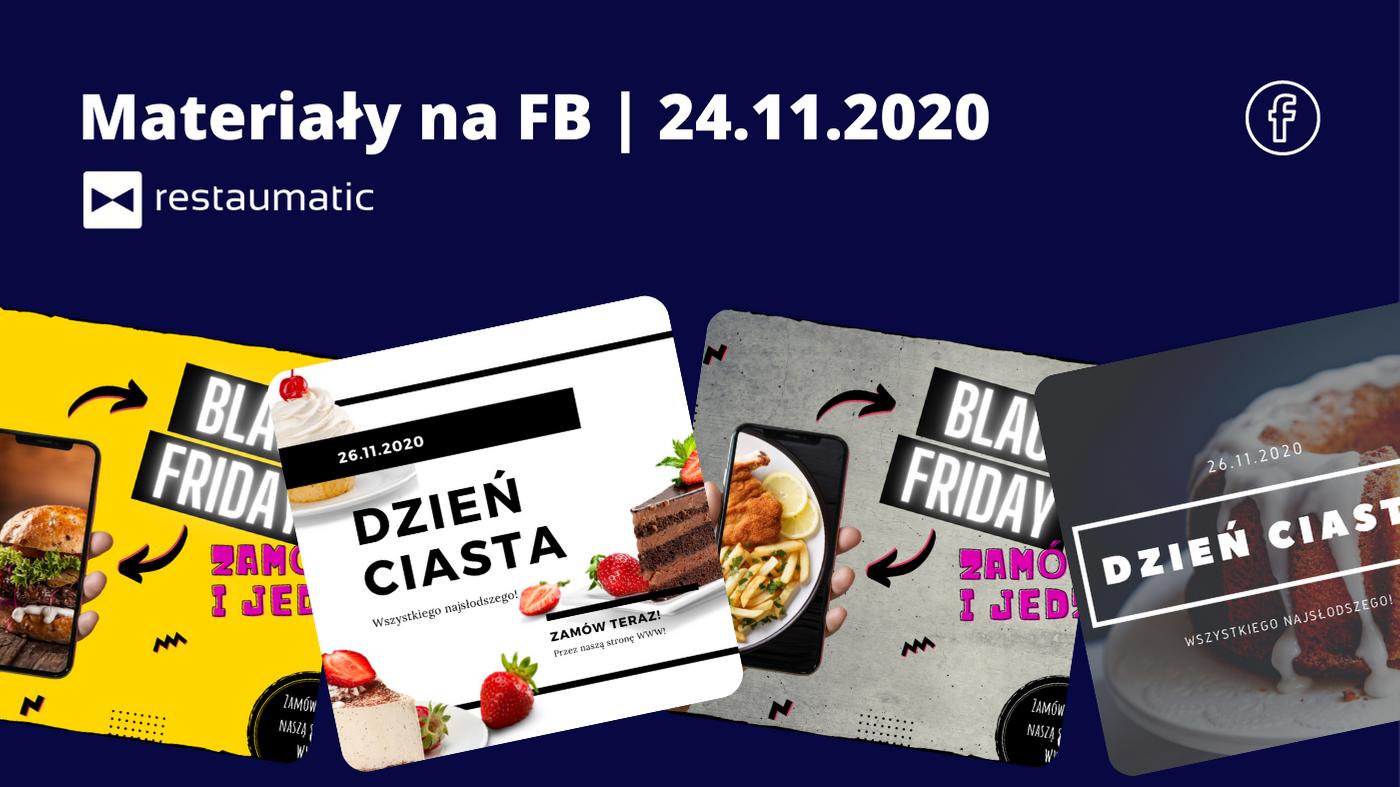 Materiały na FB | 23.11.2020 | Dzień Ciasta, Black Friday