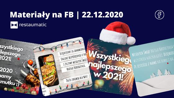 Materiały na FB | 22.12.2020 | Święta