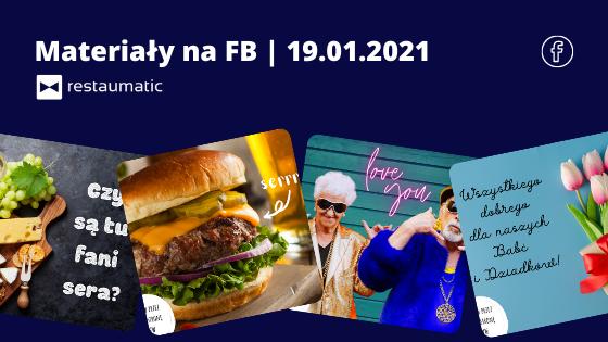 Materiały na FB | 19.01.2021 | Dzień Babcie i Dziadka, Dzień Sera